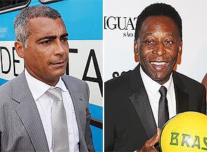 Romário e Pelé, em fotomontagem