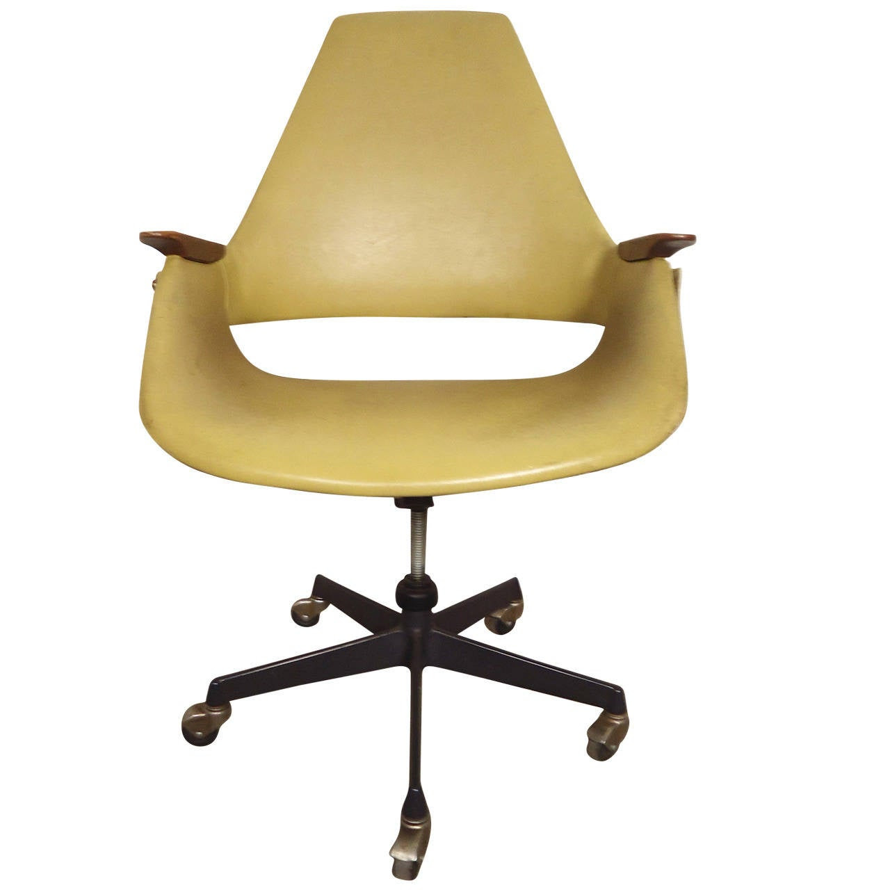 Mid-Century Modern Rolling Desk Chair at 1stdibs