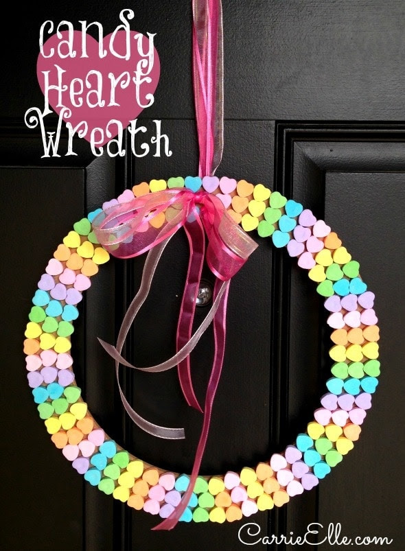 DIY Candy Heart Wreath