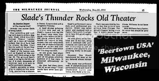 The Milwaukee Journal, Oriental Theater, Milwaulkee, 23rd May 1973