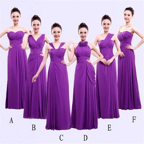 Different Styles Long Bridesmaid Dresses For Cheap Chiffon