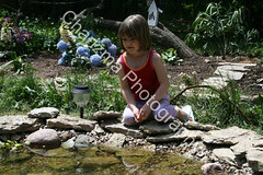 Girl at the pond