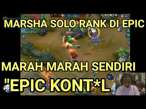 NGAKAK!! EVOS Marsha Marah-marah Solo Rank Di Epic