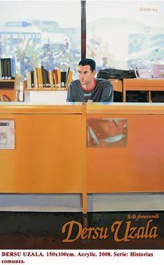 BIBLIOTECA DE GEOGRAFÍA E HISTORIA, en Campus de Guajara. Obra figurativa realizada por el artista palmero Rubén Sánchez para su exposición «Von Kopf bis Fu?» (De los pies a la cabeza), que es portada del catálogo de dicha exposición y refleja a una persona que trabaja en esta biblioteca en el mostrador de la Sala. Mira este enlace http://galleryrubensanchez.blogspot.com.es/2014/04/von-kopf-bis-fu.html