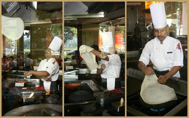"Making ""roomali"", a paper-thin roti, requires leet skills in flipping!"
