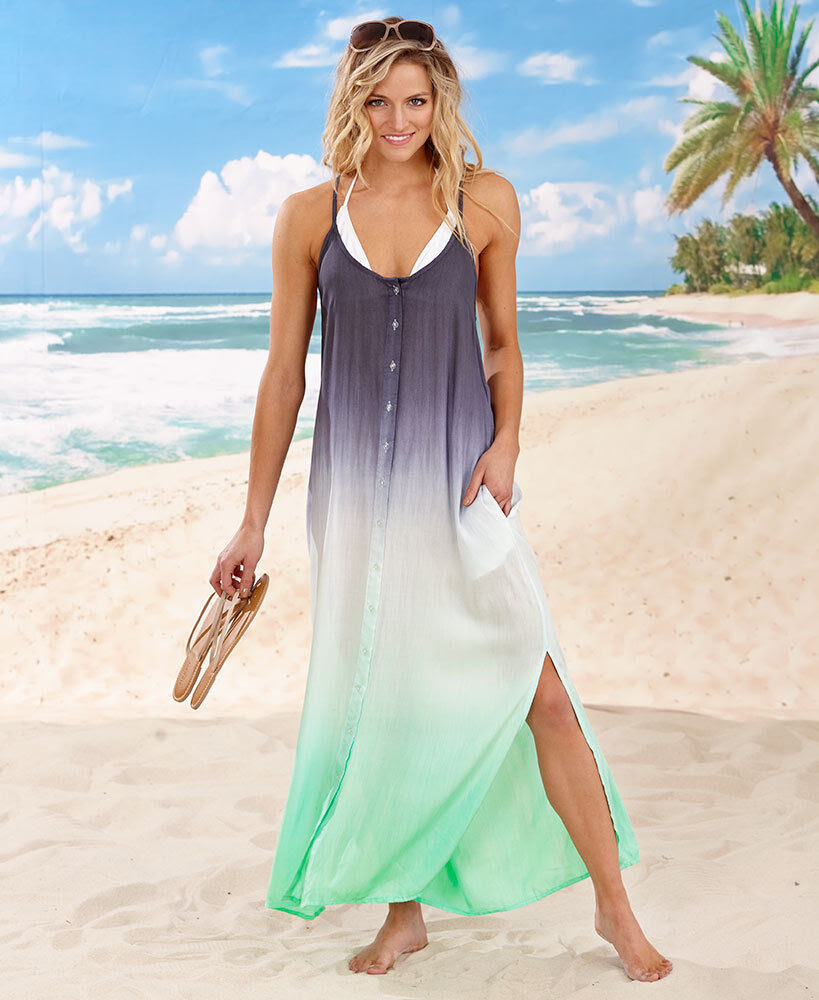 ladies maxi summer sun dress dinner party pool beach