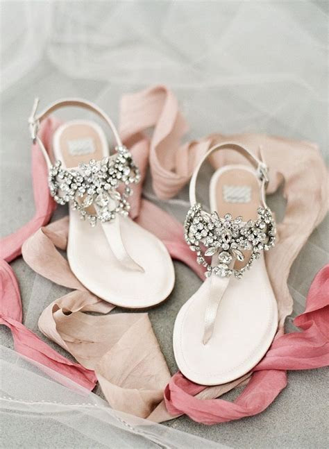 Gorgeous jeweled flats bridal shoes perfect for summer