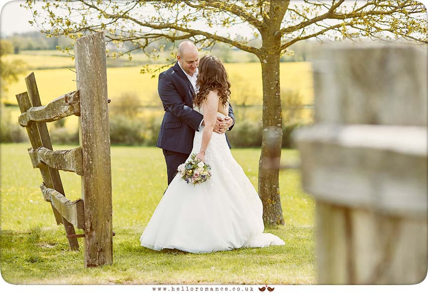 A beautiful photo of bride and groom in English country wedding, Suffolk - www.helloromance.co.uk