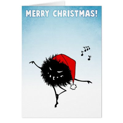 Singing Dancing Evil Christmas Bug Greeting Cards