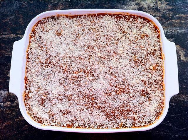 Marinara and Grated Parmesan Cheese Final Layer