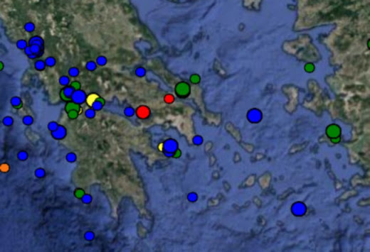 Νέος σεισμός στον Κορινθιακό - Στα 5 χιλιόμετρα το εστιακό του βάθος!