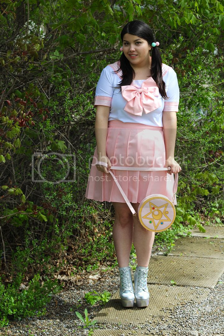 spree picky plus size sailor moon chibi moon uniform pink cosplay sailor moon bag holographic rain coat iridescent heels