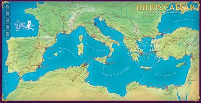 Julius Caesar map