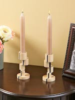 Offset-turned Candlesticks Woodworking Plan - fee plans from WoodworkersWorkshop® Online Store - candlestick holders,candlesticks,turned on lathe,offset,off center,full sized patterns,woodworking plans,woodworkers projects,blueprints,drawings,blueprints,how-to-build