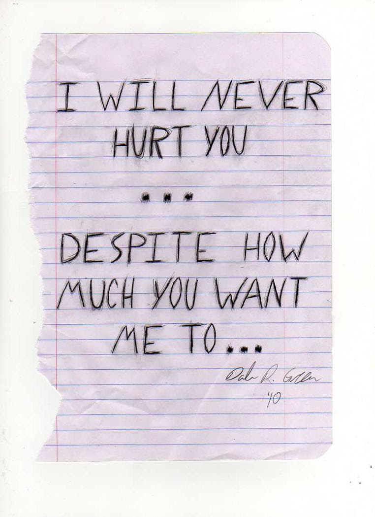 I Will Never Hurt You Again