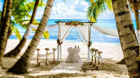 Wedding ceremony on the Saona island   Caribbean Wedding Blog