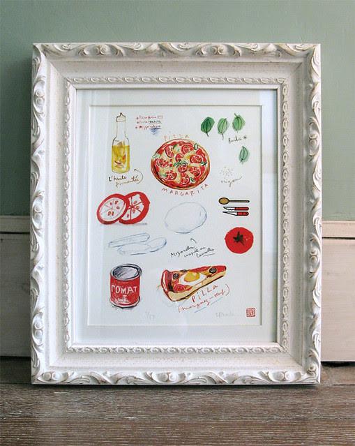 Pizza Ingredients Print by lucileskitchen