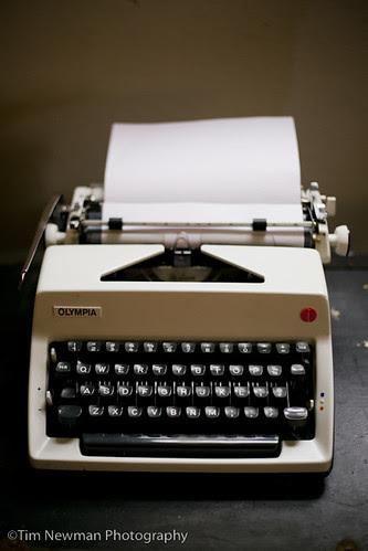 1970s typewriter (ready to type on)
