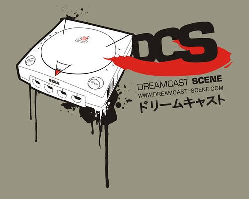 "Dreamcast Scene Shirt ""one"" - detail"