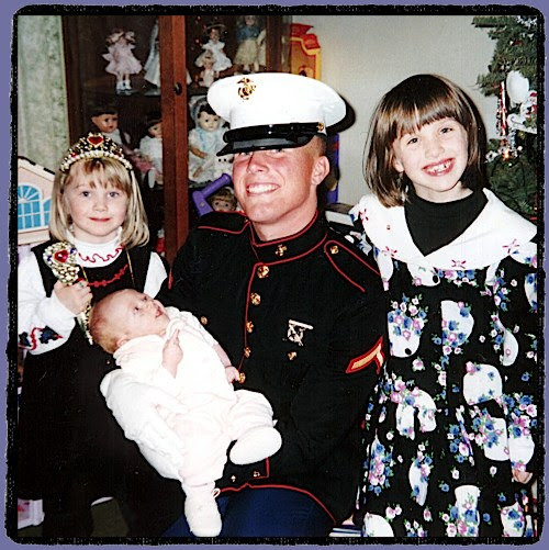Ryan and my three oldest daughters circa 1999