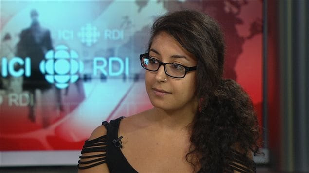 Hind Fazazi, de l'Association pour une solidarité syndicale étudiante (ASSÉ)