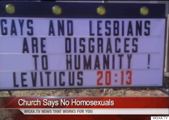Weird news: Pastor Defends Homophobic Billboard: 'I See A Homosexual