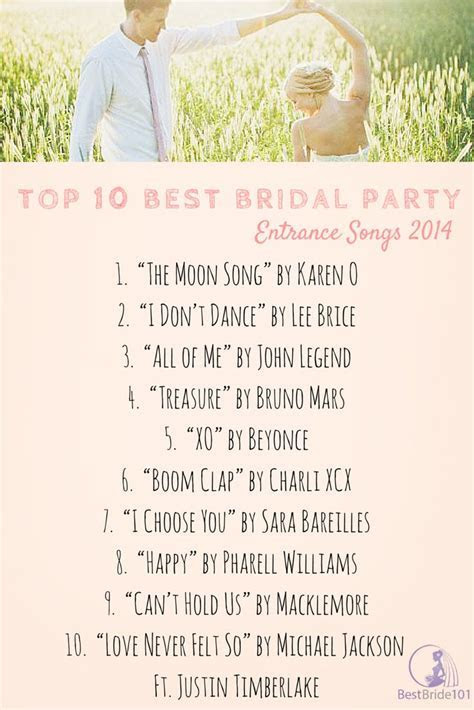 Best 25  Reception entrance songs ideas only on Pinterest