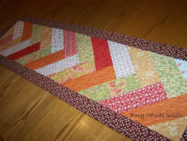Tapestry Herringbone Table Runner