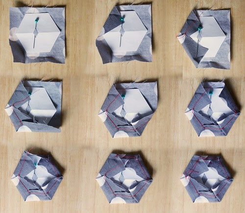 Step 13: Repeat Steps 7-12 Making More Fabric Hexagons