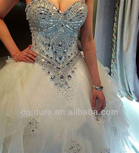 New Arrival ball gown crystals organza bling bling