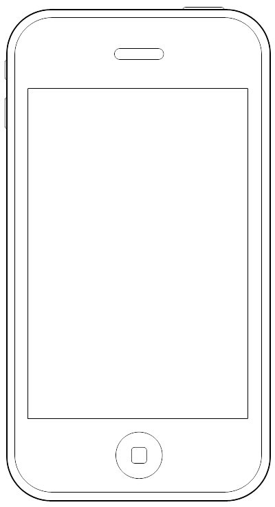 Wireframe Stencil iPhone
