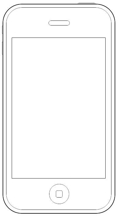 Wireframe Stencil iPhone