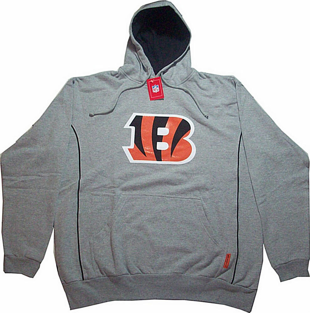 Cincinnati Bengals NFL Apparel Mens Gray Pullover Hoodie Big  Tall Sizes  eBay