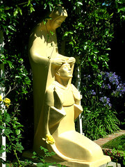monastery statue of st. dominic and our lady of peace