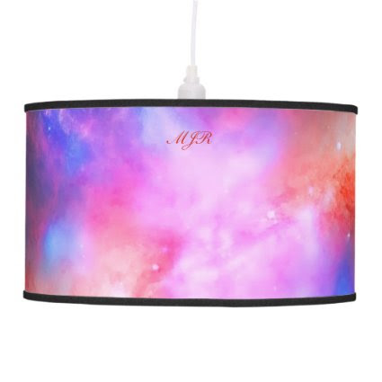 Monogram Cigar Galaxy, Messier 8 space picture Pendant Lamps