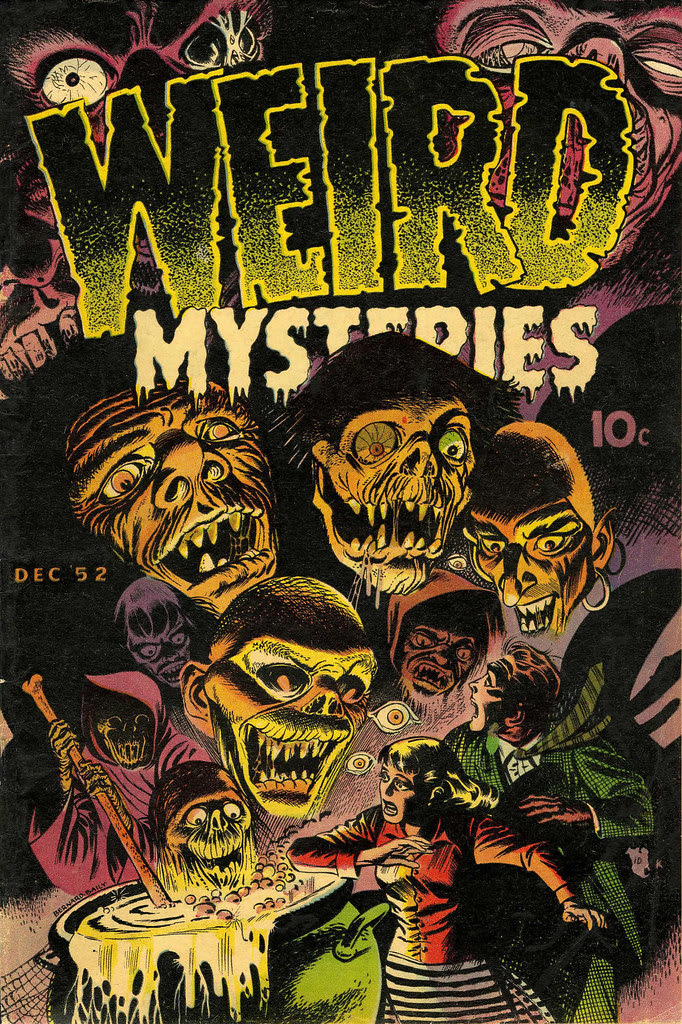 Weird Mysteries #2 Bernard Bailey Cover (Gillmor, 1952)