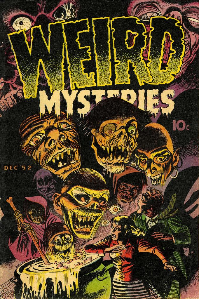 Weird Mysteries #2 Bernard Bailey Cover (Gillmor, 1952)