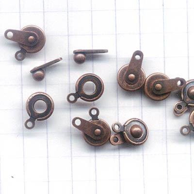 23401054 Findings - Clasps -  Button Snap - Antique Copper (10)