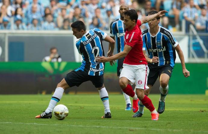 Grêmio Inter Gre-Nal torcida mista Arena Campeonato Gaúcho final Nilmar (Foto: Alexandre Lops/Divulgação Inter)