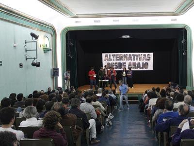 Las jornadas 'Alternativas desde Abajo' han congregado a más de 200 militantes de movimientos y organizacinoes políticas en el IES Cardenal Cisneros de Madrid.- JAIRO VARGAS