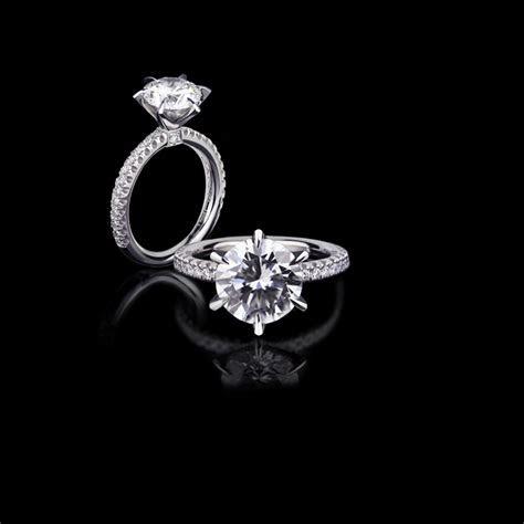 Renaissance Diamond Engagement ring Micro scalloped
