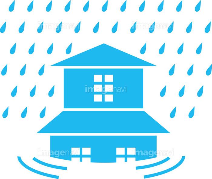 大雨洪水のピクトグラムの画像素材10047942 イラスト素材なら
