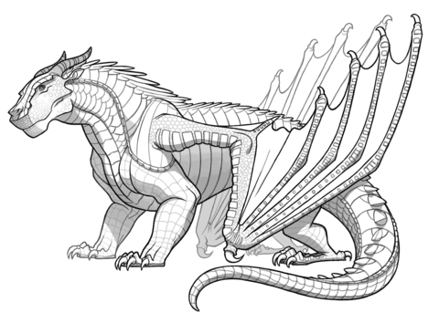 Printable Coloring Pages Dragon Super Kins Author