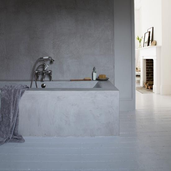 Painted floorboards | Modern bathroom flooring ideas ...