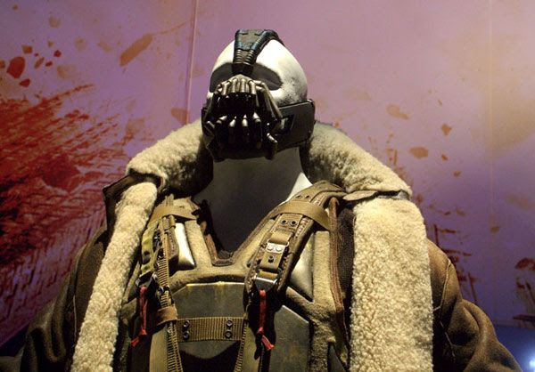 Tom Hardy's Bane outfit from THE DARK KNIGHT RISES, on December 7, 2012.