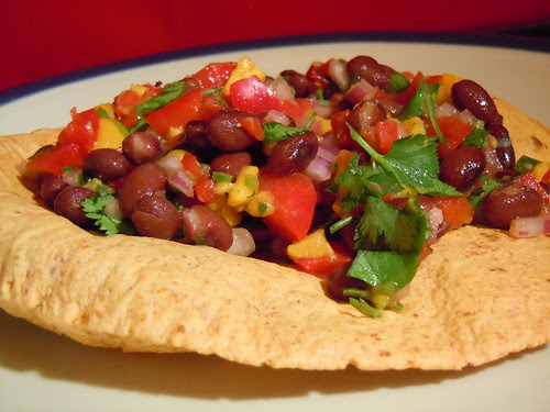 Spicy Tropical Tostada