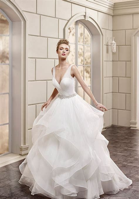Eddy K Bouquet   AK150: Ball gown, v neck, cap sleeve