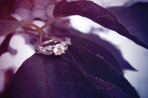 Engagement ring - tree leaves