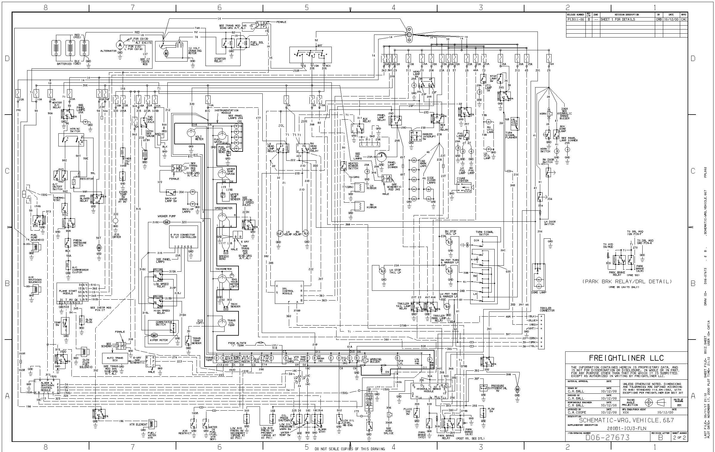 I have 2003 fl70 Freightliner and I need a wiring diagram ...