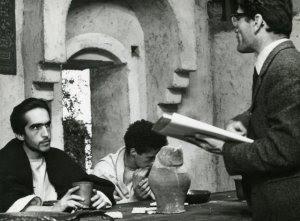 1964 - Pier Paolo Pasolini ed Enrique Irazoqui durante le riprese del Vangelo Secondo Matteo, foto di Angelo Novi